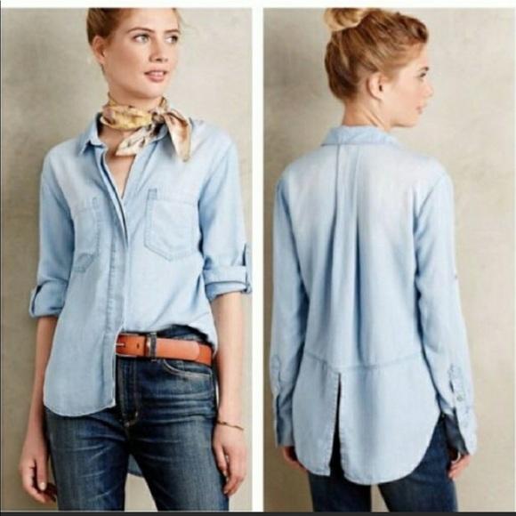 cloth & stone Jackets & Blazers - Cloth and Stone thin jean jacket